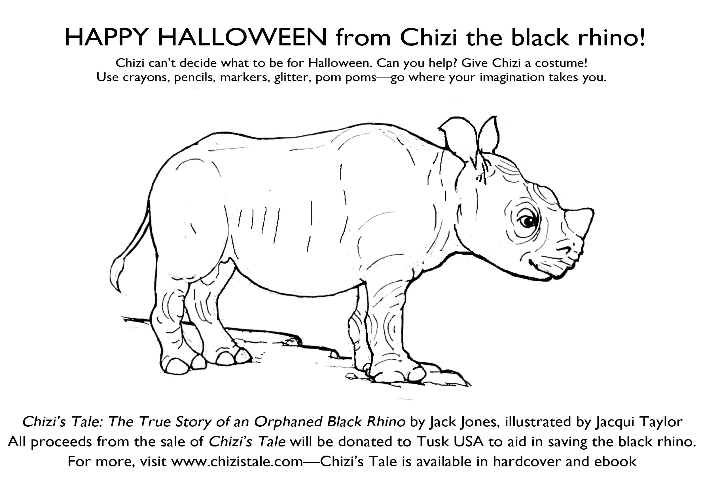 happy halloween from chizi the black rhino | chizi's tale